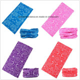 Nach Maß Entwurf druckte Polyester gedrucktes Sport-UVschutzbandana-Büffelleder
