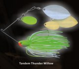 PRO richiamo in tandem di pesca dell'esca del filatore del salice di tuono di pesca bassa