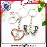 Metallo su ordinazione Keychain di figura della farfalla