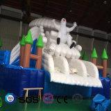 코코야자 물 디자인 팽창식 북극 곰 주제 활주 LG9089