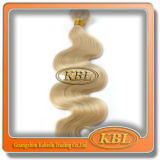 естественные белокурые курчавые выдвижения человеческих волос 5A