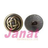 Кнопка круглого античного бронзового одиночного крюка