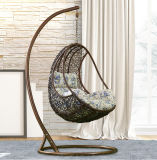 色彩工場屋外の振動、藤の家具、屋内卵のハングの椅子(D014)