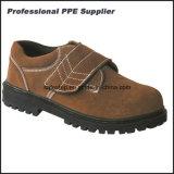 Zapatos de trabajo de seguridad ligero de cuero genuino de las mujeres