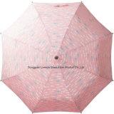 マニュアル3のガラス繊維フレームが付いている折る傘一義的な雨傘