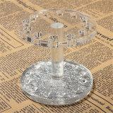 円形の光沢がある銀製のアクリルのアイライナーのブッシュの構成のオルガナイザー