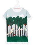 Camisa impressa desenhos animados da floresta T da menina encantadora da fábrica