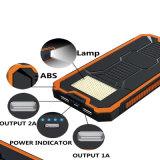 Capacidade real 10000mAh do banco móvel impermeável portátil da potência do USB do banco 2 da potência solar