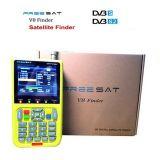 FTAデジタルTV Freesat V8のファインダー3000mAのリチウム電池のデジタル衛星ファインダーのメートルV-71 HD DVB-S2 MPEG-2/MPEG-4