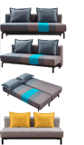 Sofà moderno popolare promozionale di Sofabed della mobilia domestica