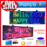 P10 Sinal de LED Programável RGB de cor cheia com display de mensagem de deslocamento para exibição em LEDs de uso completo