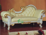 Classic Wood Chaise Lounge (YF-D98A)のための実質のCow Leather