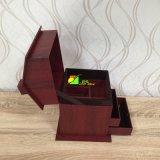 Pente haut de gamme en bois comme la boîte-cadeau d'emballage de papier de mémoire de bijou