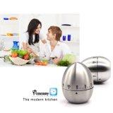 Ei-Form-Küche-Timer-silberner kochender Timer-lauter Warnungs-Timer