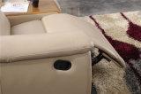 Sofa moderne de cuir de meubles de salle de séjour réglé (422)