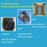 Reforzado cortando la fibra del acero de aleación para la casa del concreto prefabricado