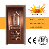 Prix supérieur de portes de sécurité d'en cuivre d'entrée des ventes Sc-S080