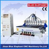 Máquina multiusos del CNC de la carpintería de 8 ejes Ele-1730, ranurador de madera del CNC de 8 husos de China