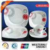 Piatto di ceramica di figura quadrata più poco costosa 20PCS