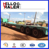 100ton販売のための低いローダーのトラックのトレーラーへの半3つの車軸Lowbedのトレーラー60ton