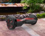 Placa elétrica do pairo da bicicleta de duas rodas com iluminação do diodo emissor de luz