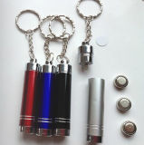 4084 - 알루미늄 Flashing LED Torch Keychain (경험 15 년)