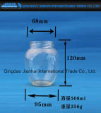 500g di vendita caldo, chiaramente cristalleria 1000g per ostruzione con il coperchio
