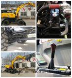 Escavatore della rotella del rifornimento Bd95 della fabbrica della Cina piccolo con la benna 0.3m3