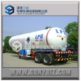 Do eixo do LPG de tanque do caminhão reboque dobro Semi