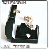 Rectángulo de almacenaje cosmético plástico del anillo del terciopelo del embalaje del regalo del almacenaje del rectángulo determinado de la joyería de la caja de presentación del regalo de la joyería (Ys303)
