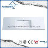 Lavabo di superficie solido della stanza da bagno di Polymarble degli articoli sanitari