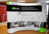 Curved Tension Fabric Trade Show / Exposição Display Stand Backdrop Banner