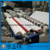 Cortadora procesada del papel de rodillo de tocador de la máquina del tejido de tocador pequeña con el cortador de la bobina