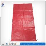 sacos 50bls de embalagem tecidos PP vermelhos para feijões