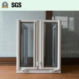 Wit Openslaand raam UPVC met Onstabiel Slot, het Scherm K02054 van de Rol