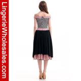 Взрослый магазина 50's хмеля цвета смешивания женщин Hip с Costume юбки пуделя плеча