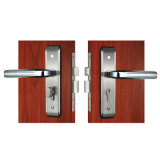 Горячее Privacy Zinc Alloy Mortise Leverset Lock в Satin Nickel