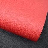 Les graines de litchi ont gravé le tissu stratifié par PVC de cuir de sac à main d'éponge de PVC