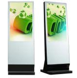 65 Zoll-Fußboden, der Digitalsignage-interaktiven Bildschirm-Monitor-Kiosk steht