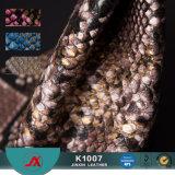 Teste padrão de Snakeskin de 2017 formas para o couro do &PVC do saco de couro