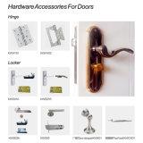 Деревянная пластичная составная звукоизоляционная твердая входная дверь (YM-059)