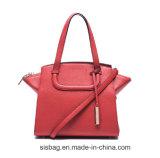 新しい方法赤く純粋なカラーデザイナー女性のハンドバッグ