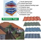 Prezzo più basso rivestito delle mattonelle di tetto del metallo della pietra naturale della sabbia del fornitore di Guang Zhou con l'alta qualità
