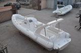 Barco macio rígido da grande fibra de vidro da casca da fibra de vidro 20persons de Liya 27FT