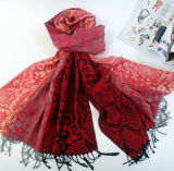 Xaile popular do jacquard do lenço das mulheres da senhora Lã Lenço Serpentino Printed do projeto