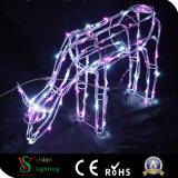 크리스마스 장식적인 3D 사슴 빛