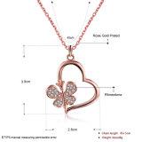 De Halsband van de Tegenhanger van het Bergkristal van de Halsband van het Hart van de Klaver van de Charme van de Juwelen van de manier