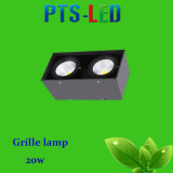 High Quality 2 Head LED Grille Spotlight 20W Grille LED Lamp