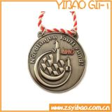 Médaille en laiton antique en gros en métal pour le souvenir (YB-m-017)