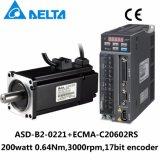 デルタB2 200W 17bitのエンコーダACサーボモーターおよびドライバー